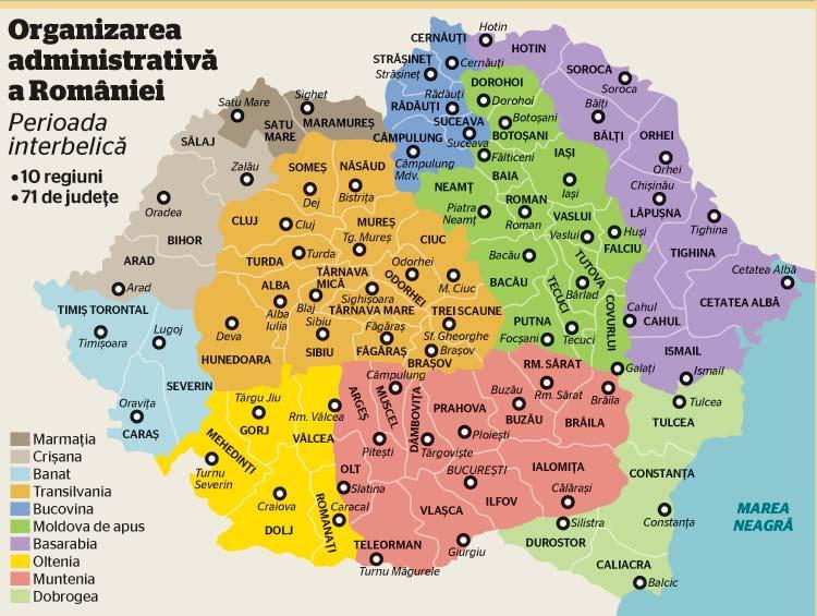 harta Romaniei 1918