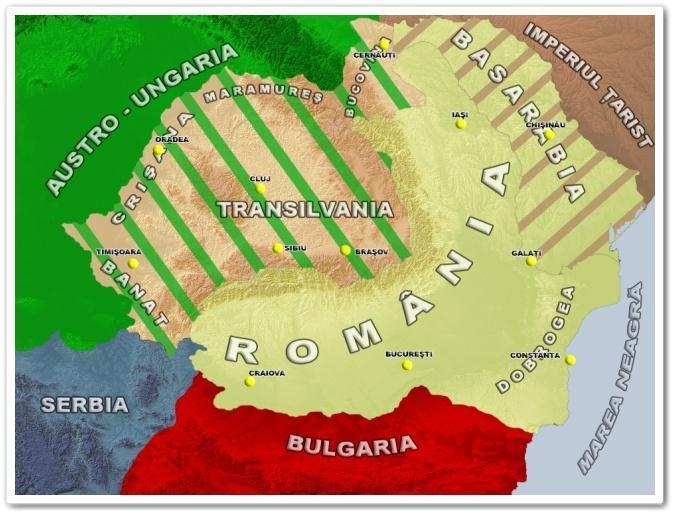 harta Romaniei 1914